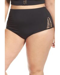 Becca - Etc. No Strings Attached High Waist Swim Briefs (plus Size) - Lyst