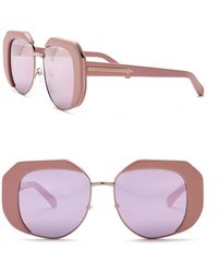 13a5eab3640e Lyst - Karen Walker Poolside Flowerpatch Light Pink Sunglasses in Pink