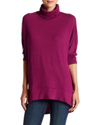 Madison & Berkeley - 3/4 Length Sleeve Turtleneck Pullover - Lyst