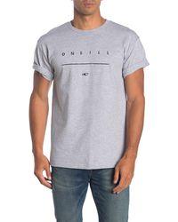 O'neill Sportswear Taper Graphic T-shirt - Gray