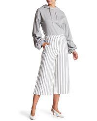 Vero Moda - Striped Coulette Pants - Lyst