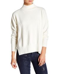 French Connection - Long Sleeve Hi-lo Sweater - Lyst