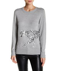 French Connection - Sequin Leopard Sweater - Lyst