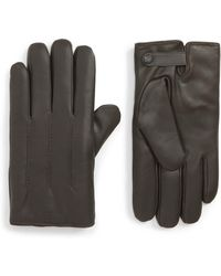 Ted Baker Leather Wool-lined Gloves - Brown