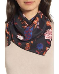 Treasure & Bond - Funky Foliage Square Silk Scarf - Lyst