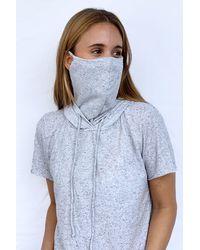 Maaji Inspire Movement Masked Short Sleeve Hoodie - Gray