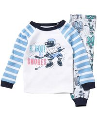 Joe Fresh Hockey Top & Bottom Pyjamas - 2 Piece Set (baby Boys) - Blue