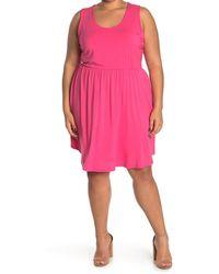 West Kei Knit Sleeveless Mini Dress - Pink