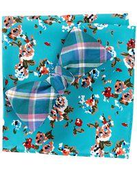 Original Penguin - Derita Check Bow Tie & Pocket Square - Lyst