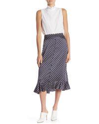 FRAME - Printed Peplum Skirt - Lyst