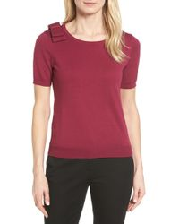Cece by Cynthia Steffe - Bow Shoulder Sweater - Lyst