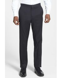 Theory - 'marlo P Hamburg' Flat Front Tuxedo Trousers - Lyst