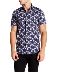 Calibrate Trim Fit Short Sleeve Sport Shirt - Blue