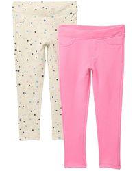 Vigoss Pull-on Leggings - Pack Of 2 - Pink
