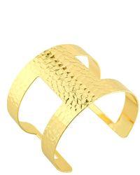 Charlene K Hammered Open Cuff Bracelet - Metallic