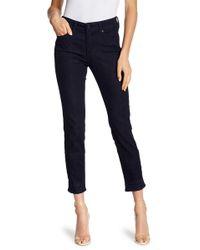 NYDJ - Sheri Embroidered & Embellished Hem Jeans - Lyst
