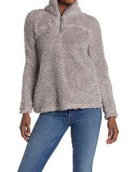 Workshop Fleece Quarter Zip Sweater - Grey