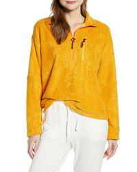 Lou & Grey Marc Loop Terry Half Zip Pullover - Yellow