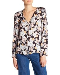 B Collection By Bobeau - Cristy Pleated Back Print Blouse - Lyst