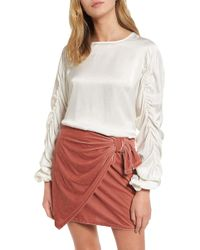 Tularosa - Lexi Ruched Sleeve Top - Lyst