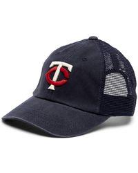 57dc074f025 American Needle - Minnesota Twins Raglan Bones Mesh Baseball Cap - Lyst