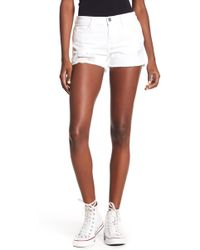 Etienne Marcel Distressed Shorts - White