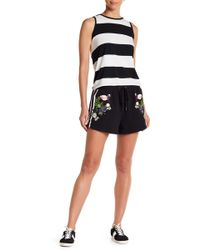 Cynthia Rowley - Embroidered Flamingo Terry Short - Lyst
