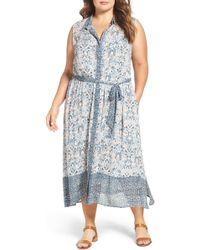 Lucky Brand Maxi Shirtdress - Blue