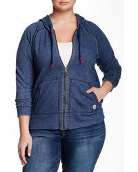 Lucky Brand - Indigo Zip Hoodie (plus Size) - Lyst