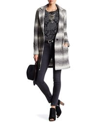 Lucky Brand - Ombre Knit Car Coat - Lyst