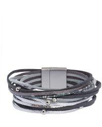 Saachi - Ultra Lightweight Bead Detail Multi-strand Bracelet - Lyst
