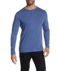 Theory - Gaskell Long Sleeve Henley - Lyst