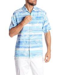 Tommy Bahama - Leaf On The Water Short Sleeve Print Silk Original Fit Shirt - Lyst