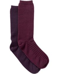 Yummie By Heather Thomson - Bubble Stitch Crew Socks - Pack Of 2 - Lyst