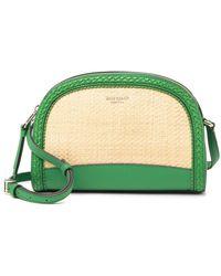 Kate Spade Reiley Straw Dome Crossbody Bag - Green