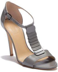 Armani - Layered T-strap Stiletto Sandal - Lyst