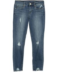 Articles of Society Suzy Cropped Distressed Jeans - Blue
