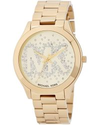MICHAEL Michael Kors - Women's Slim Runway Bracelet Watch - Lyst