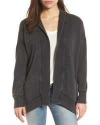 Lucky Brand - Lace-up Back Cardigan - Lyst