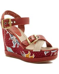 Blackstone - Batik Wedge Sandal - Lyst