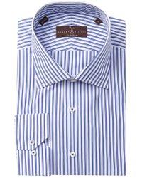 Robert Talbott Striped Classic Fit Dress Shirt - Blue
