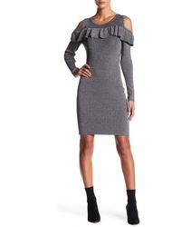 Fate - Cold Shoulder Ruffle Dress - Lyst