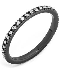 BaubleBar - Glass Crystal Detail Eternity Ring - Lyst