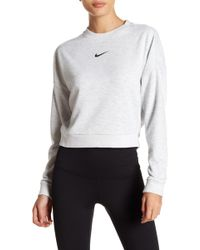 Nike - Dri-fit Logo Cropped Pullover - Lyst