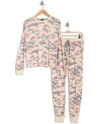 Cozy Zoe Long Sleeve Printed Pajama Set - Multicolor