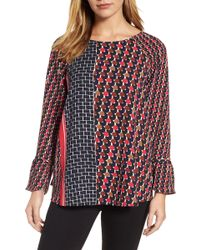NIC+ZOE - Mix Dots Bell Sleeve Top - Lyst