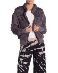 Young Fabulous & Broke - Button Down Puffer Jacket - Lyst