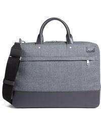 Jack Spade Tech Oxford Briefcase - Gray