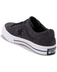 Converse One Star Oxford Suede Sneaker - Black