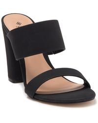 Call It Spring Falelia Slide Heeled Sandal - Black
